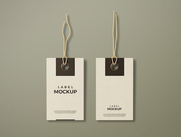 Gros plan sur une maquette d'étiquette propre et élégante