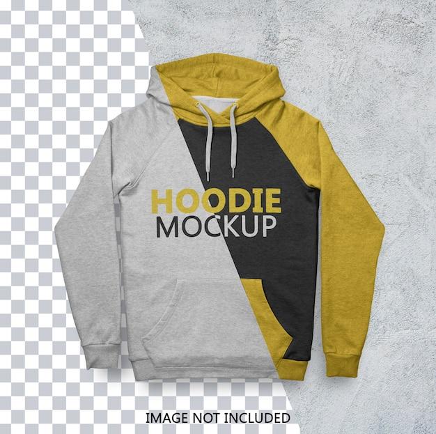 Gros plan sur la maquette de hoodie isolé