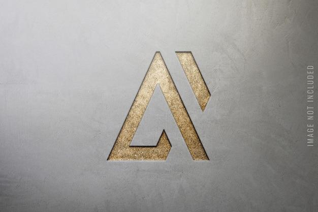 Gros plan d'une maquette de logo de luxe