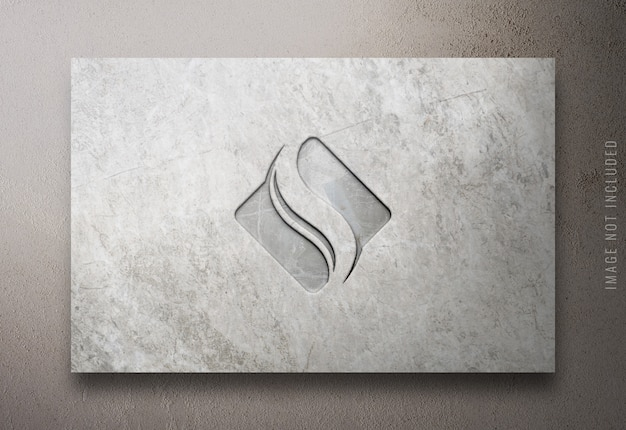 Gros plan sur la maquette de logo de luxe