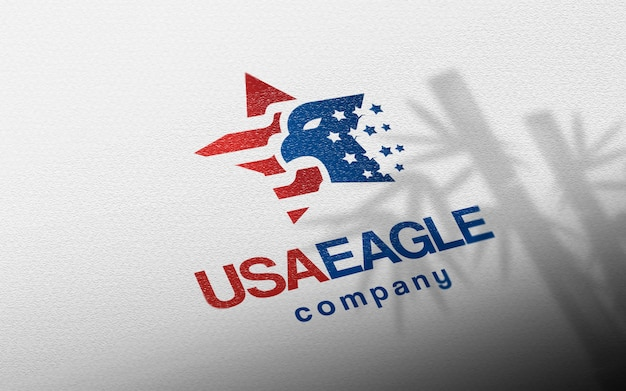 Gros plan maquette de logo en papier artisanal