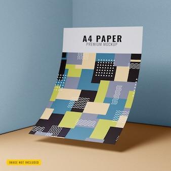 Gros plan sur une maquette de papier flottant