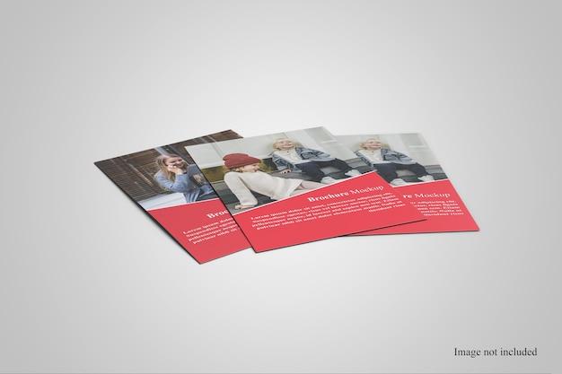 Gros plan sur la maquette de présentation de la brochure