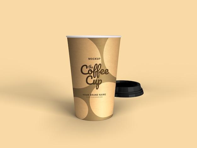 Gros plan sur la maquette de tasse à café à emporter