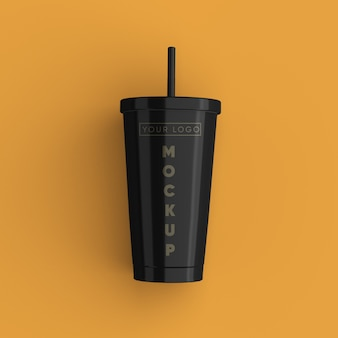 Gros plan sur la maquette de tasse de café isolé