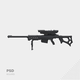 Gros plan sur un pistolet isolé psd premium