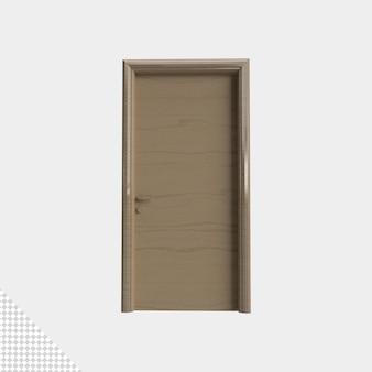 Gros plan sur la porte isolée