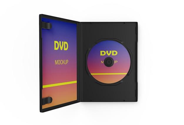 Gros plan sur le rendu de la maquette du boîtier dvd
