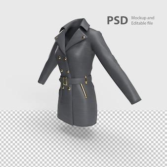 Gros plan sur veste femme isolée
