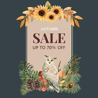 Guirlande avec bannière thème automne