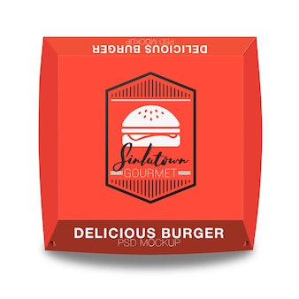 Hamburger emballage maquette conception
