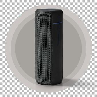 Haut-parleur sans fil portable isolé sur fond transparent