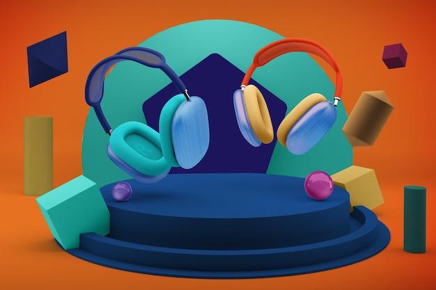 Head phones max design maquette