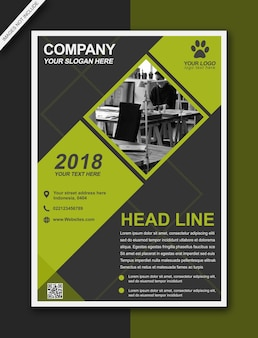 Headline flyer brochure citron modern bussiness - format a3