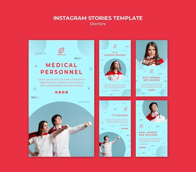 Héroïque personnel médical histoires instagram