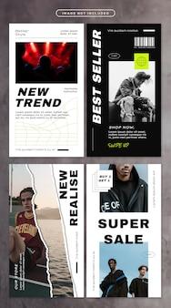 Histoire de médias sociaux avec la mode de la rue