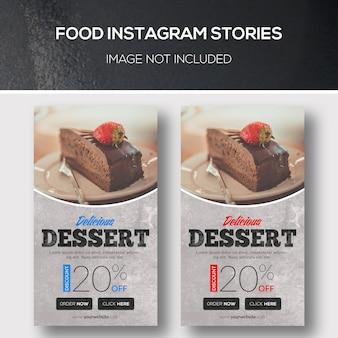 Histoires alimentaires instagram