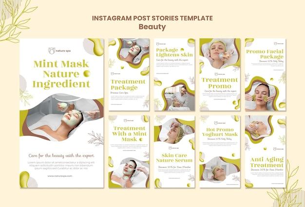 Histoires de beauté instagram