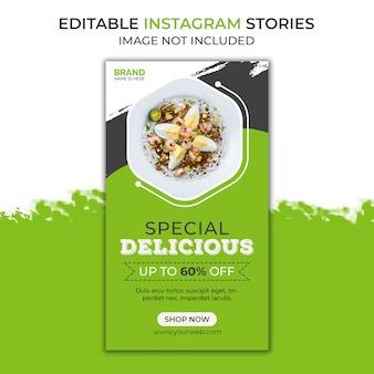 Histoires délicieuses sur instagram