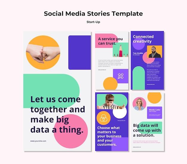 Histoires de démarrage sur les réseaux sociaux