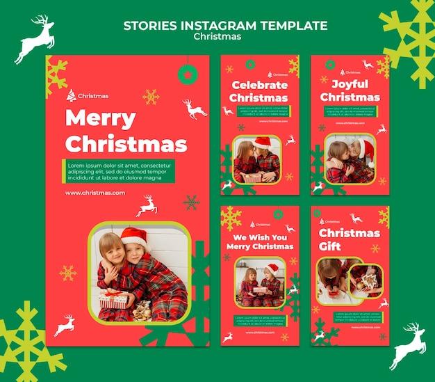 Histoires Festives De Noël Sur Les Réseaux Sociaux PSD Premium