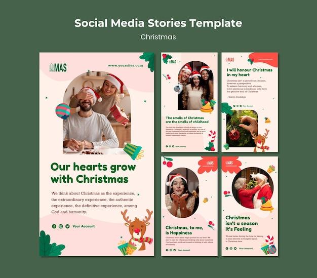 Histoires festives de noël sur les réseaux sociaux