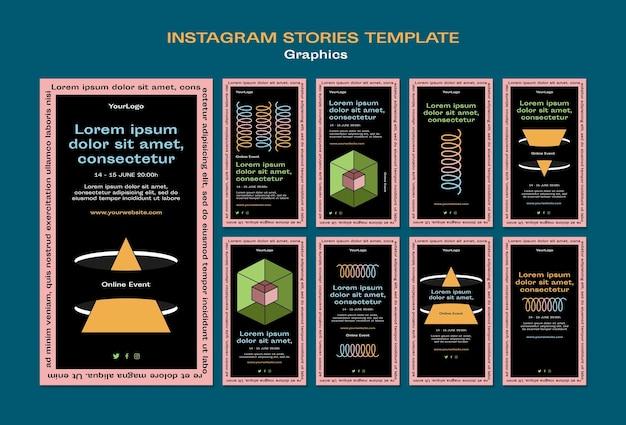 Histoires graphiques instagram