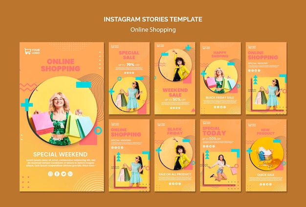Histoires instagram avec achats en ligne
