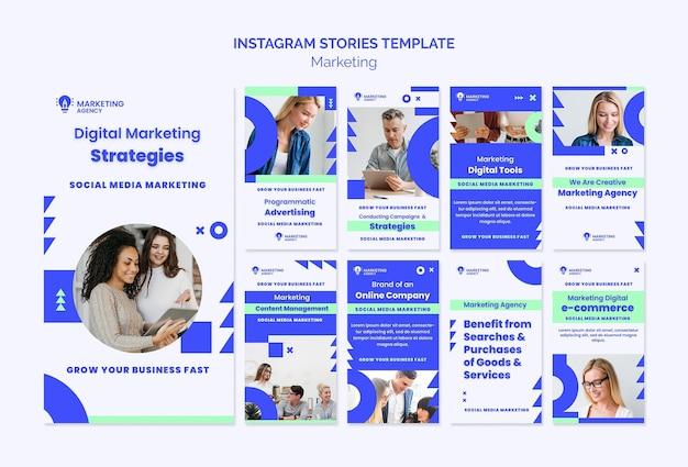 Histoires Instagram D'agence De Marketing PSD Premium