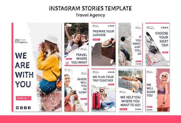Histoires instagram d'agence de voyage