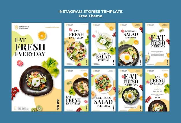 Histoires instagram d'aliments sains