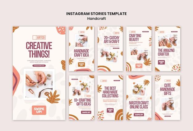 Histoires instagram artisanales