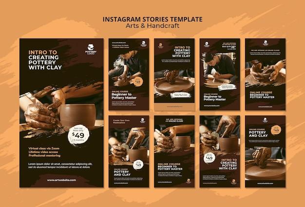 Histoires instagram sur les arts et l'artisanat