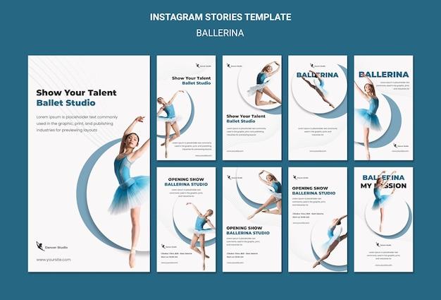 Histoires instagram de ballerine