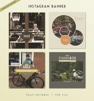 Histoires instagram: bannière de publication sur les médias sociaux