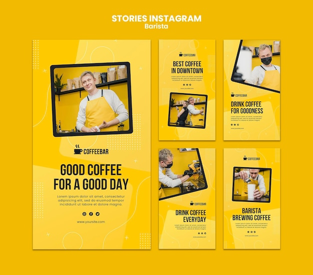 Histoires instagram de barista