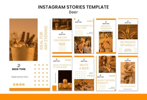 Histoires instagram sur la bière
