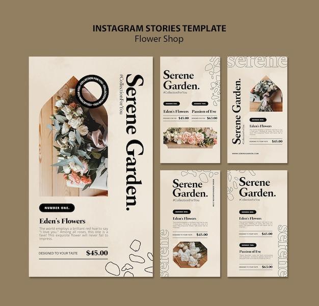 Histoires instagram de la boutique de fleurs