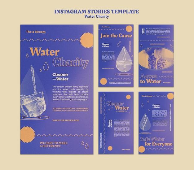 Histoires instagram de charité de l'eau