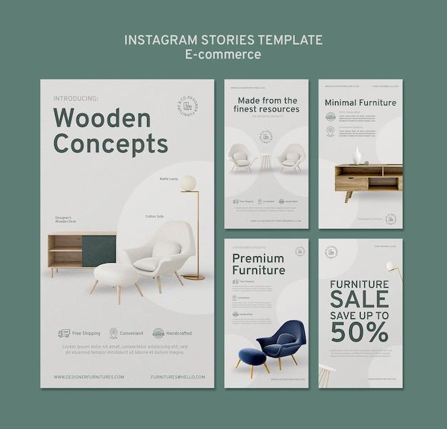 Histoires instagram de commerce électronique