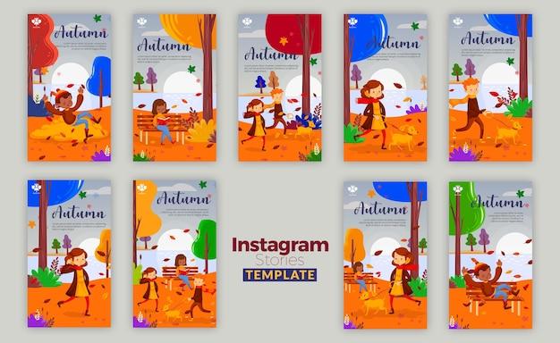 Histoires instagram concept automne