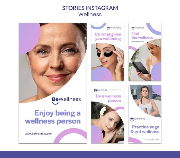 Histoires instagram de concept de bien-être