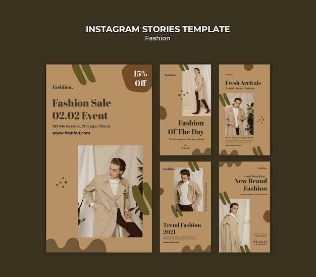 Histoires instagram de concept de mode