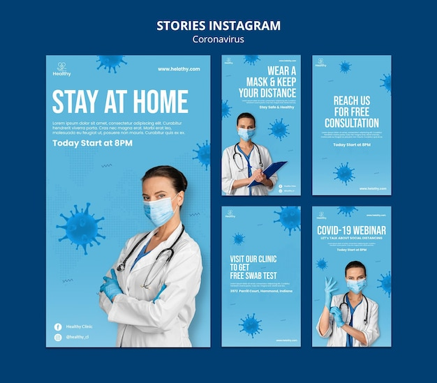 Histoires instagram sur le coronavirus