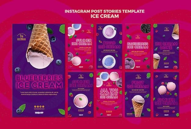 Histoires instagram de crème glacée