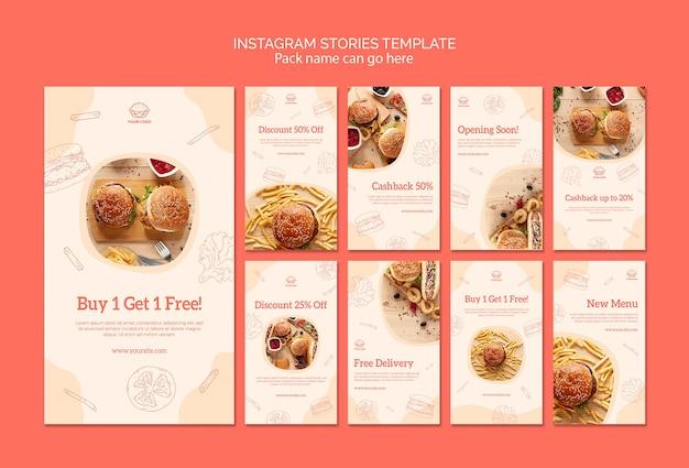 Histoires instagram cuisine américaine