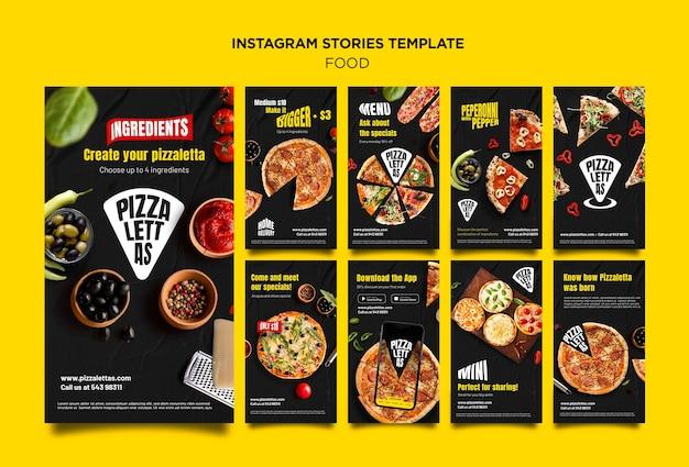 Histoires instagram de cuisine italienne