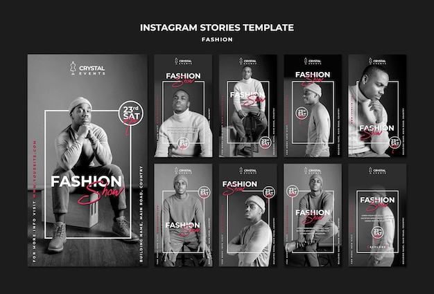 Histoires instagram de défilé de mode