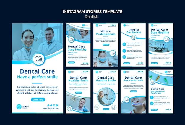 Histoires instagram de dentiste