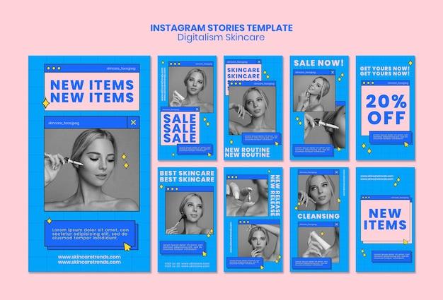 Histoires instagram digital skincare
